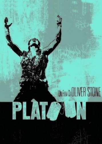 1980's Movie - PLATOON - METALLIC CYAN canvas print - self adhesive poster - photo print